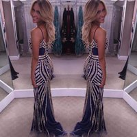 Wholesale Long Satin Fitted Dress - 2017 Party Dress Newest Beaded Crystal Sexy Party Fitted Prom Dresses Evening Gowns Formal Gown Custom Made