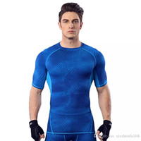 Wholesale Men S Tight Running Shorts - Fitness suit men 's basketball running training clothes elastic compression fast - drying sports tights short - sleeved