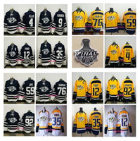 Ice Hockey spun cotton - 2017 Nashville Predators Blue PK Subban Ellis Roman Josi Ryan Johansen Pekka Rinne Mike Fisher Forsberg Yellow Jerseys