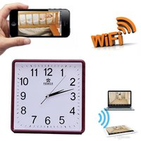 WIFI Wall Clock Pinhole Camera HD 1080P Détecteur de mouvement Spy Clock IP Camera Baby Monitor Sécurité à domicile DVR Nanny Cam