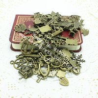 Wholesale Bronze Ships Bell - Sweet Bell Free shipping Mix 200 PCS Vintage Charms Pendant Antique bronze Fit Bracelets Necklace DIY Metal Jewelry Making D0164
