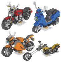 Wholesale toy build road for sale - Group buy Motorcycle Diamond Building Blocks Road King Model Toys Mini DIY Building Bricks Gifts Collection YH531