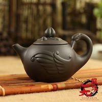 Wholesale cloth tea bag - hinese yixing zisha Handwork Purple Clay Swan Tea Pot 170CC