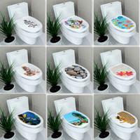 Wholesale Decorative Home Stick - Toilet Walls Stickers Decorative Stickers Home Bathroom Pvc Wall Stickers Wall Decals Creative Style DIY Stick On Wall Art IC586