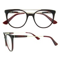 Wholesale Colourful Bags - Round Superfine and light weight frame Colourful never fades with metal decoration Simple classic design eyeglasses frame