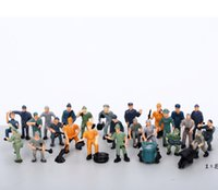 Wholesale Maquette Material Maker HO Scale Model Figures Scale Model Railway Workers Building Layout F003