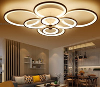 Wholesale remote dimmer color for sale - Group buy Dimming Remote control living study room bedroom modern led chandelier white color surface mounted led chandelier fixtures LLFA