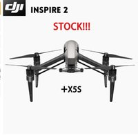 Wholesale Rc Quadcopter Dji - Stock!!! DJI Inspire 2 Drone FPC RC Quadcopter with 4K Video 100%original DJI Drone Intelligent Flight Modes with a Zenmuse X5S