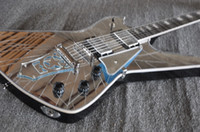 Wholesale Mirror Right - Rare Crack Mirror Top Iceman Paul Stanley Signature Electric Guitar Star Shape Mirror Tailpiece Mirror Pickguard Abalone & MOP Block Inlay