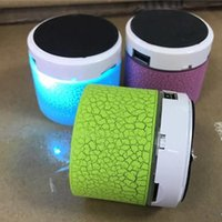 LED Crackle Bluetooth Mini Speaker cartão portátil de áudio sem fio plug-in cartão Voice Box subwoofer alto-falantes com cabo USB para iphone 7