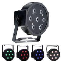 Wholesale Dj Led Light Used - 7X10W RGBW LED Par Lights DMX Par Can Light Wash Effect Sound Activated Modes for Stage DJ Lighting Party USED