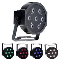dj led wash al por mayor-7X10W RGBW LED Par luces DMX Par puede luz efecto de lavado activado por sonido modos para DJ etapa de iluminación partido utilizado