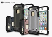 Wholesale Cover Iphone5 - Dual Defender Hybrid Tough Armor Case For iPhone5 5S Coque TPU PC Back 2 in1 Protective Phone Cases Cover