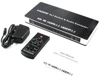 puerto hdmi switch switcher selector al por mayor-HDMI2.0 HDCP2.2 HDMI 4x1 Switch Audio Extractor 4 puertos HDMI switcher 4 entrada 1 salida HDMI selector
