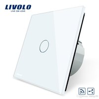 Livolo Switch wireless standard UE VL-C701SR-1/2/3 / 5,1Gang 2 vie, interruttore a distanza, pannello in cristallo bianco, indicatore 220 ~ 250V + LED