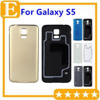 задний корпус samsung оптовых-OEM для Samsung Galaxy S5 G900F G900T G900m задняя задняя крышка батарейного отсека корпус с резиновым ковриком водонепроницаемые запасные части 30 шт. / лот