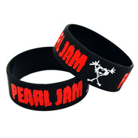 Wholesale rock wristbands - Hot Sell 1PC Pearl Jam Silicone Bracelet An Alternative Pop Rock And Grunge Style Band Wristband