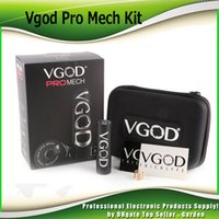 Wholesale Pro Vent - Original VGOD Pro Mech Mod 24mm Diameter vape 5 Large Vent Holes 510 Connecttion Authentic ProMech Box Mod 100% Genuine 2247001