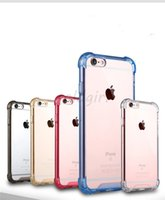 Wholesale Iphone 5s Clear Soft Case - Transparent Shockproof Acrylic Hybrid Armor Bumper Side Soft TPU Frame Back PC Hard Case Clear Air Cushion cover For iphone 5s 6 6s 7 8 Plus