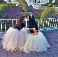 Wholesale Mix Match Vintage - 2016 White Ivory Mother and Daughter Matching Tutu Skirt Puffy Ball Gown Adult Women Mix Tulle Cheap Formal Party Prom Tutu Skirts Mini Me