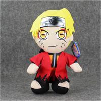 Wholesale Naruto Plush Wholesales - 30cm Anime Naruto Uzumaki Naruto Plush Toy Soft Plush Stuffed Doll for Kids Christmas gift free shipping EMS