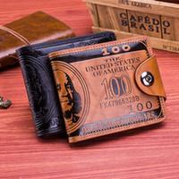 Wholesale Designer Mens Shorts Sale - 2 Colors Fashion Sale Dollar Price Pattern Designer Mens Wallets Casual Credit Card Holder Purse Wallet for Men Hasp Wallets LA308-2