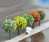 Wholesale Fairy Flower Garden - 30pcs moq wholesale mini ball tree for fairy garden decorative miniature for home garden wedding Table Creative Decor Diorama Flower Tree