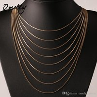 Wholesale Gold Snake Chain 1mm - Hit Hop Stylish 18K Gold Plated 1mm Thick Snake Chain Necklace Long 18 20 22 24 26 28 inches Clasps Necklace for Men Jewelry Chains