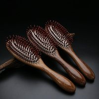 Wholesale Ebony Hair - 2017Time -Limited New Hot Sale Hairbrush Hair Brush Care Of Pure Natural Gold Ebony Comb High -Grade Cushion Airbag Massage