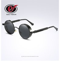 Wholesale china brand sunglasses resale online - New Fashion Round Polarize Sunglasses for Man and Woman Vintage Metal Sunglasses Brand Designer Sunglasses hot sale from China