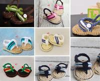 Wholesale Crochet Shoes Sandals Toddler - Candy color BB summer soft bottom hook needle shoes 9CM 10CM 11CM children toddler shoes baby sandals in stock 10 pair 20pcs