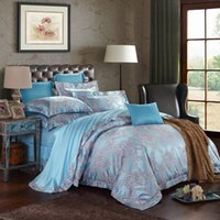 Wholesale High Thread Count Sheets - higher thread count jacquared bed sheet bedding four pieces per set,luxaury designs,queen and king size avaiblle