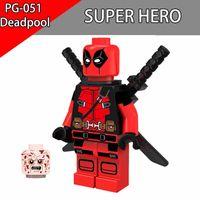 Wholesale Spiderman Toy Building - Deadpool minifigures XMen Building Blocks DC Marvel Super Heros Batman Iron man Spiderman Characters Gifts Toys For Children PG051