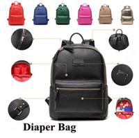 Wholesale Diaper Bags Fashion Handbags - 7 Colors Mommy Backpack Brand Nappies Bags Fashion Mother Backpack Diaper Maternity Handbags Outdoor Desinger Nursing Backapck CCA7488 20pcs
