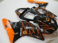 laranja r1 venda por atacado-Grátis kit de carenagem de 7 presentes para Yamaha YZF R1 2000 2001 carenagem de laranja preto YZFR1 00 01 OT23