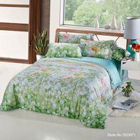 Wholesale Tencel Fabric Sheets - TUTUBIRD 100% Tencel bamboo fiber silk fabric bedding set boho super soft bedclothes Duvet Cover sheets set parure de lit adults