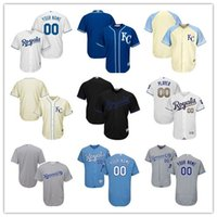Wholesale 2017 Specialty Custom Men s Kansas City Royals Authentic Collection Personalized cool base Stitched Baseball Jersey SIZE S XL