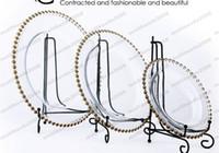 plattenladegeräte großhandel-2017 NEUE runde günstige hochzeit cear silber gold glas perlen ladegerät pates glasplatte für hochzeit tischdekoration KOSTENLOSER VERSAND MYY