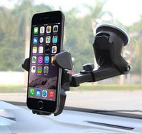 Wholesale Iphone5 Mount Car - Universal Car Auto 360° Windshield Mounting Mounts Bracket for Smart Mobile Phone Cellphone iPhone5 4S JIN-00JH16-001