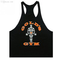 Wholesale Wholesale Printing Equipment - Wholesale-MAKIYO 2016 Men Gym Singlets Tank Tops Shirt,Bodybuilding Equipment Fitness Cotton Golds Gym Stringer Tank Top Sports Clothes