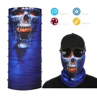 Atacado- Tampão de esportes multifuncional Bandana Magic Skull Face Shield
