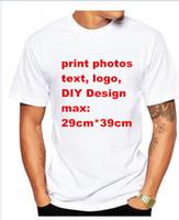 Wholesale Cotton Logos Design - photo text logo Custom T Shirt Men Clothing moder Short SleevePrinted Custom T-shirt DIY Design Tee Shirt S-XXXL