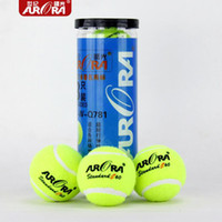 Wholesale Ball Tennis Elastic - Wholesale- 2.6 Inches 3-Balls Training Tennis Ball High Elastic 65mm Diameter Latex Tennis Ball Dog Training Retriever Nature Rubber Balls