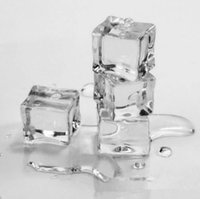 Wholesale Wholesale Acrylic Clear Ice - Wholesale 2016 New Hot Selling 50pcs Wedding Party Display Artificial Acrylic Ice Cubes Crystal Clear Decoration