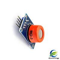 Wholesale Alcohol Gas Sensor - Free Shipping 10pcs lot MQ-3 alcohol sensor module alcohol concentration gas detection circuit module