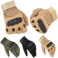 Wholesale Sports Safety Gloves - Wholesale- Us Army Tactical Gloves Full Finger Black Hawk Outdoor Sports Safety Combat Motocycle Slip-resistant Carbon Fiber Tortoise Shell