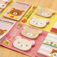 Wholesale Sticky Notepads - Kawarii Cartoon Rilakkuma 6 Folding Memo Notepad,Note Book&Memo Pad,Sticky Notes Memo Set Gift Stationery KCS