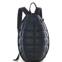 Wholesale Grenade Backpacks - Wholesale- Unisex PU leather Grenade backpack children Bomb shells school bags women men travel backpack kids bag