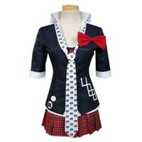 Wholesale dangan ronpa cosplay - Malidaike Super Dangan Ronpa 2 Junko Enoshima Cosplay Costume Uniform Cloth Sailor Suit