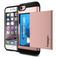 iphone чехол для слайдов оптовых-Гибридный чехол для кредитной карты для iPhone XR XS MAX Galaxy S10 S10 PLUS Чехол для телефона Слайд Задняя крышка с мягким бампером ТПУ для Galaxy S9 8